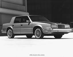 chrysler car white 1988 chrysler new yorker pictures history value research news