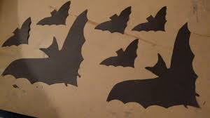 how to make paper bats for halloween decorations youtube
