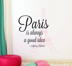 Eiffel Tower Wall Decals Eiffel Tower Wall Decal Audrey Hepburn Vinyl Decal Paris Wall