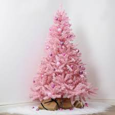 pinkistmas tree ornaments light artificial trees