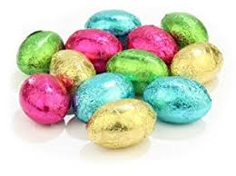 easter eggs mixed coloured foil wrapped chocolate easter eggs bag of 100