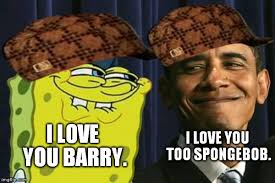 spongebob and obama imgflip