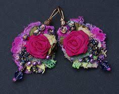 antoinette earrings baroque textile earrings gipsy earrings antoinette best of