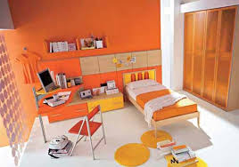 yellow paint color ideas for boy bedroom with blue orange colored