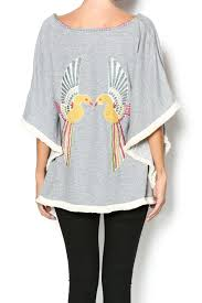 judith march judith march poncho with bird from by anchored soul shoptiques