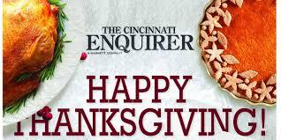thanksgiving day run cincinnati early bird enquirer arrives in stores wednesday night