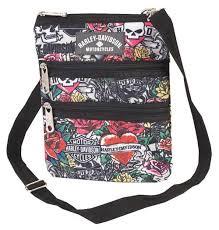 Wisconsin travel handbags images Harley davidson women 39 s x body crossbody sling purse tattoo jpg