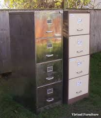 Retro Filing Cabinet Furniture Vintage Filing Cabinets 4 Drawer Polished Steel