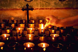 vigil lights catholic church prayer is not asking prayer is putting oneself in the hands of god
