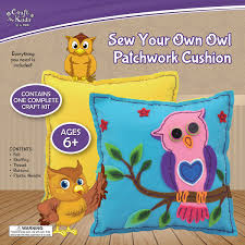 owl patchwork cushion by craft for kids u2013 daves deals