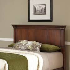 shop home styles aspen rustic cherry full queen headboard at lowes com
