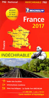 France Maps by 792 Michelin National Map France High Resistance 2017 France