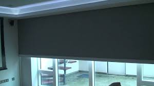 recessed electric blackout patio blind youtube