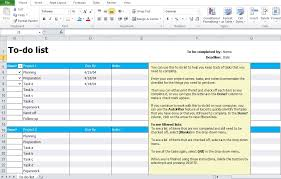 to do list template excel excel tmp