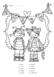 free valentine u0027s day color by number kindergartenklub com