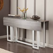 extending console dining table a modern drop leaf expandable console table that converts into a