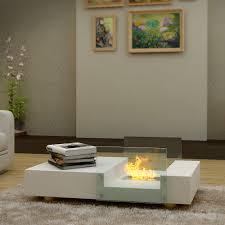 mobile buy seraphino bio ethanol fireplace coffee table white