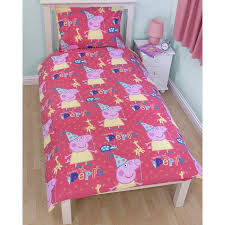 peppa pig funfair kids girls reversible single duvet cover bedding
