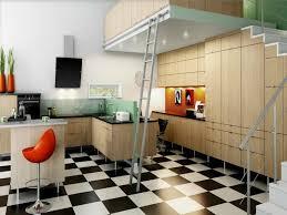 modern style black and white floor tile kitchen good life of