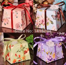 Wedding Candy Boxes Wholesale Online Shop 100pcs Wholesale Cheap Beautiful Flower Trapezoid