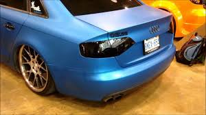 lowered matte blue audi a4 with vossen rims youtube