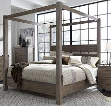 queen canopy bed liberty sonoma road beaten bark queen canopy bed sonoma road