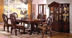 pedestal dining room sets tuscany ii antique cherry rectangular extendable double pedestal