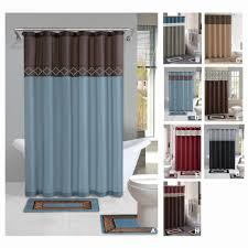 Simple Shower Curtains Simple Bathroom Sets With Shower Curtain And Rugs Home Decor By