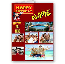 personalised mickey mouse collage photos name u0026 age a5 happy