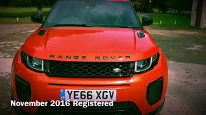 orange range rover 2016 u002766 u0027 range rover evoque hse dynamic in phoenix orange youtube