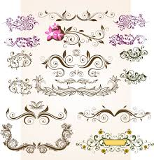 floral vintage flowers vector ornamental design elements digital