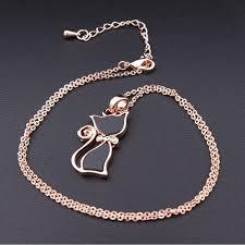 gold cat pendant necklace images Rose gold cat pendant boardwalkbuy uk png