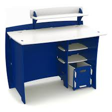 legare 43 in race car kids desk with file cart blue white