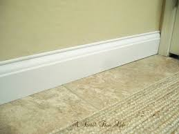Bathroom Baseboard Ideas A Stroll Thru Life Install Wide Baseboard Molding Over Existing