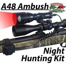 night hunting lights for scopes wicked hunting a48 ambush hunting light kit red led