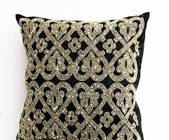 Beaded Home Decor Amazon Com Amore Beaute Black Beaded Pillow Covers Black