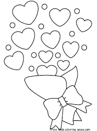 printable valentines bouquet coloring pages kidsfree