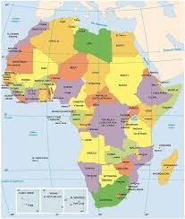mapa de africa politico africano mapa