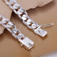 mens silver solid bracelet images High quality fashion solid 925 sterling silver 10mm men men 39 s male jpg