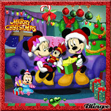 merry christmas mickey mouse family