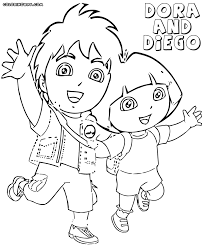 coloring pages of dora and boots feed