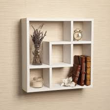 amazon com geometric square wall shelf with 5 openings home
