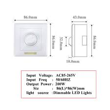 Dimmable Led Strip Lights 200w White Led Dimmer Ir Knob Switch Remote Control Many Units