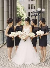 black and white wedding bridesmaid dresses 39 timeless black tie wedding ideas weddingomania