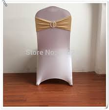Gold Spandex Chair Covers Big Discount 50pcs Gold Spandex Chair Cover Band With Buckle