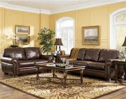Living Room With Brown Leather Sofa Marvellous Living Room Decor Ideas With Brown Furniture Living