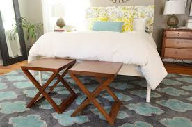 Benches At End Of Bed by Turning Side Tables Into Benches At The End Of The Bed Young