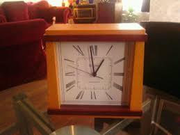 Wood Desk Clock Bulova Altus Wood U S Atomic Radio Controlled Mantle Shelf Desk