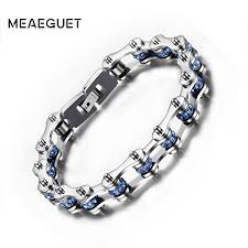 metal men bracelet images Blue crystal bracelets stainless steel chain biker men jewelry jpg
