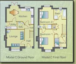 semi detached house floor plan plans for three bedroom semi detached houses at cill gréine